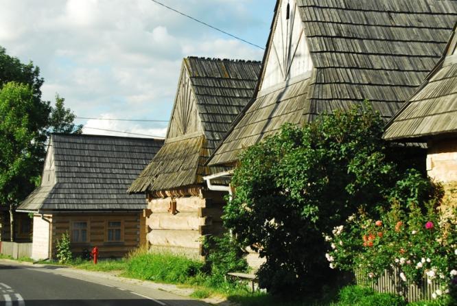 Drewniane domy w Chochołowie