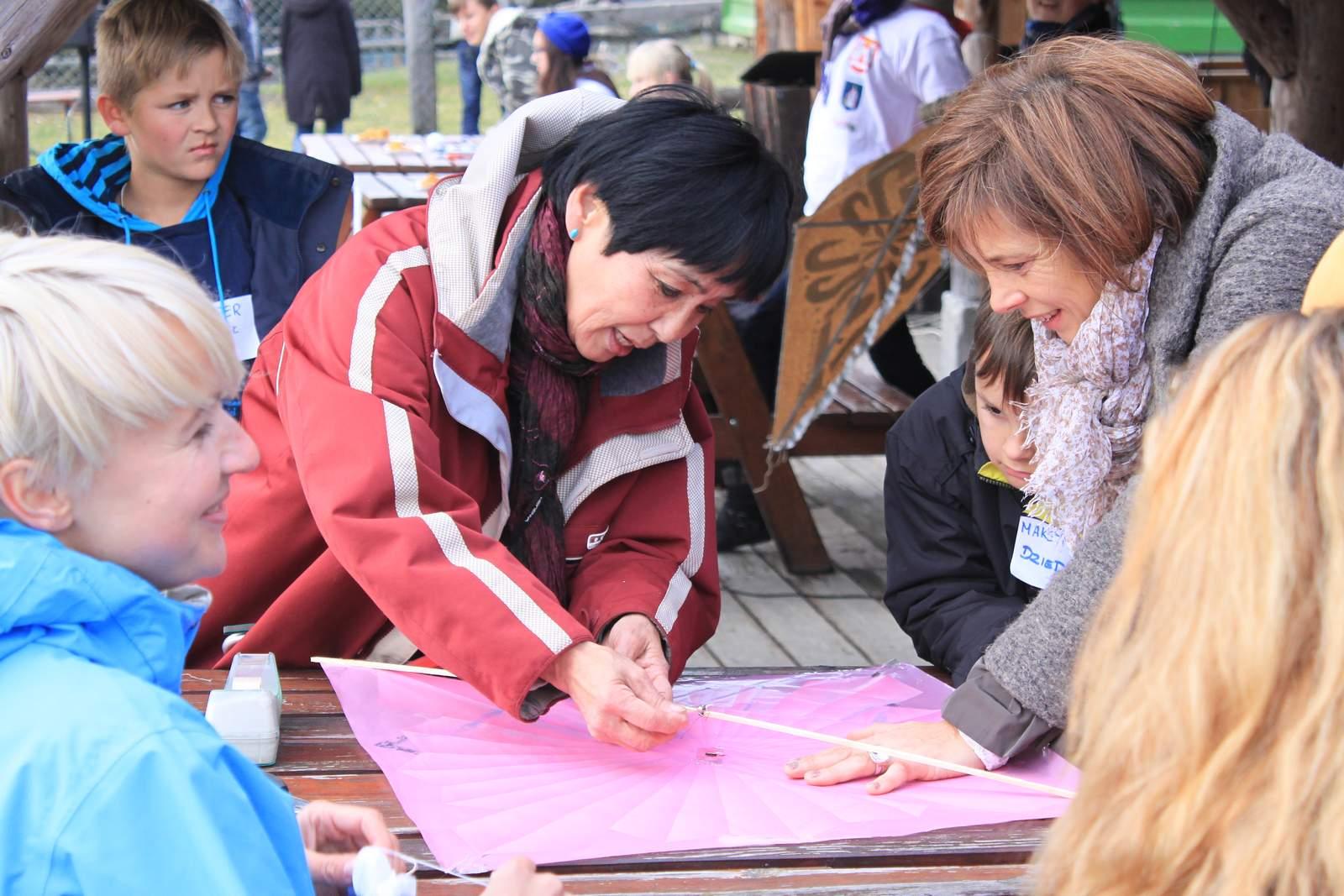 Zajęcia podczas pikniku zlatawcami wCzorsztynie