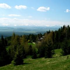 Panorama Tatr z Villi Akiko